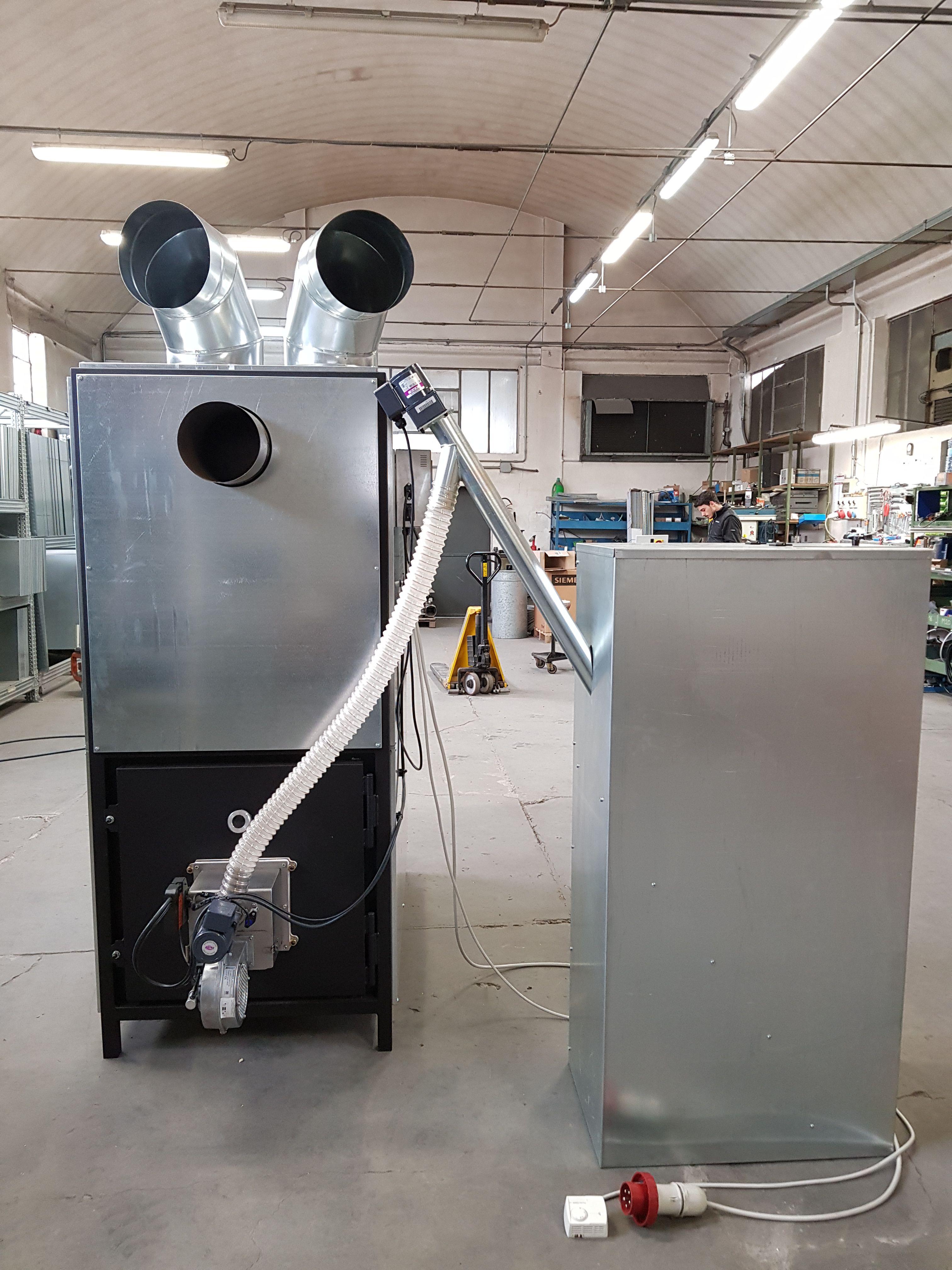 generatori d'aria calda a biomassa